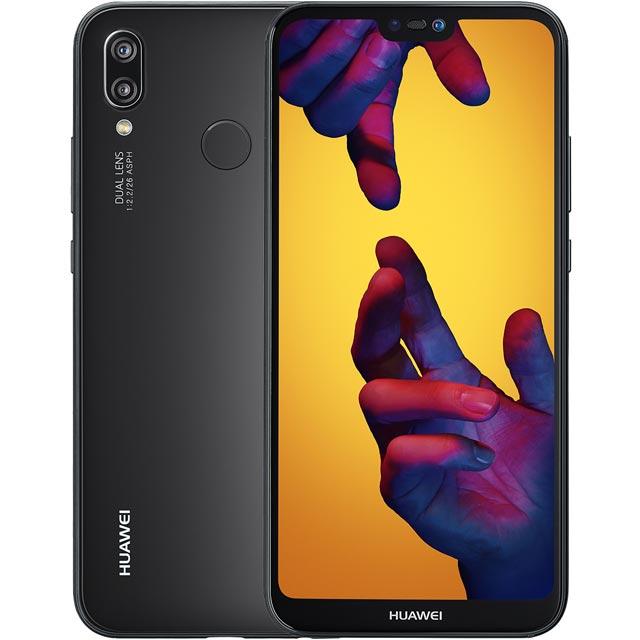 """Huawei P20 Lite, Android, 5.8"""", 4G LTE, SIM Free, 64GB, Black"""