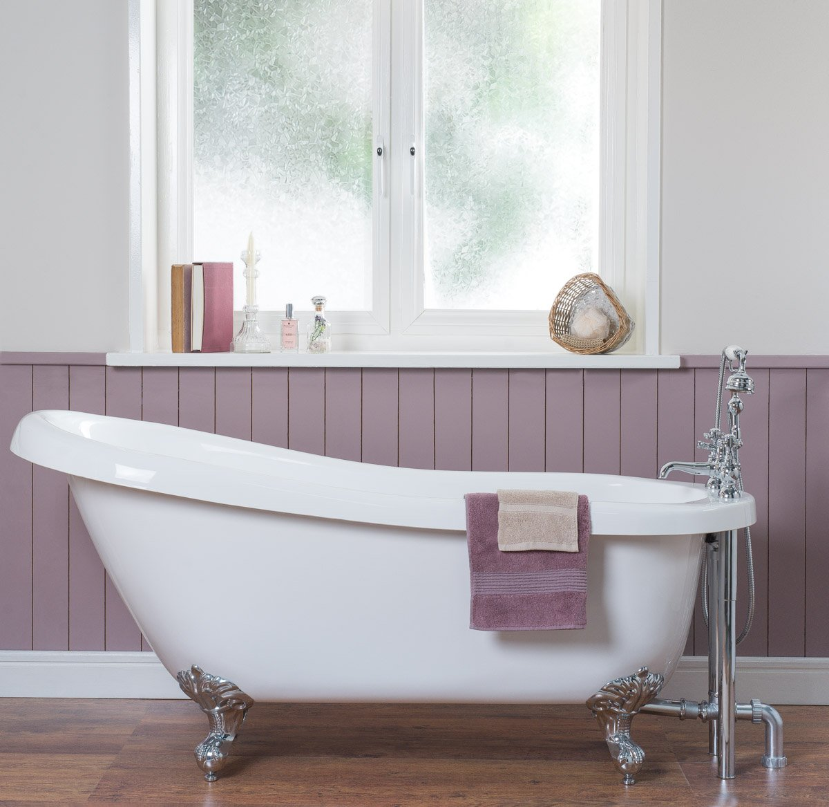 Solitude 1700 x 730mm Traditional Freestanding Slipper Bath