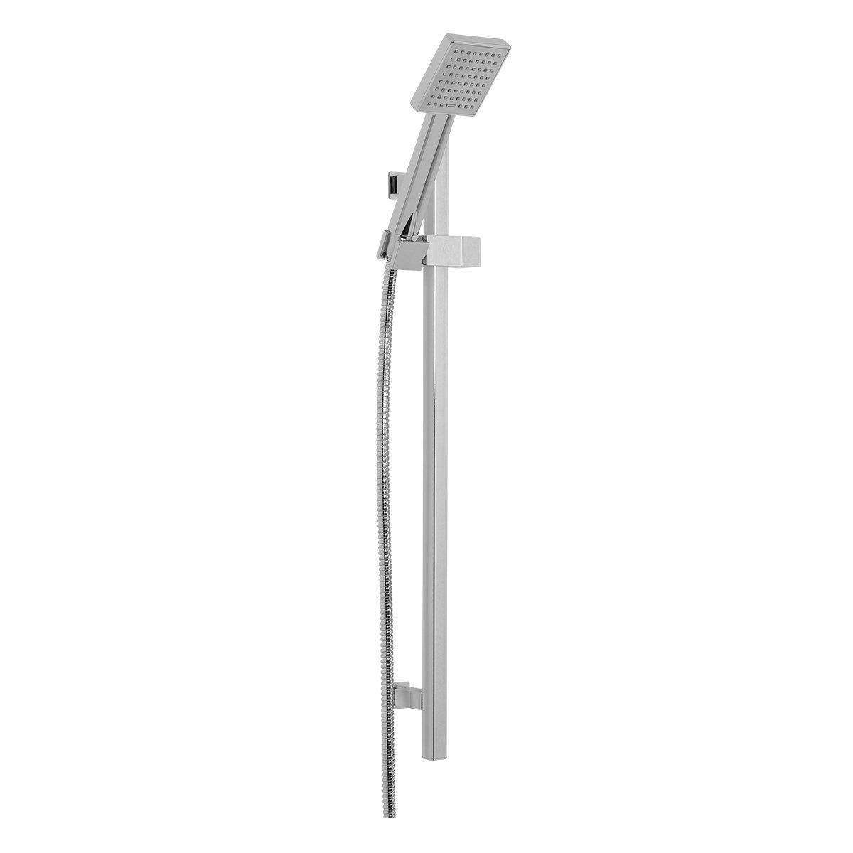 Aquariss 20mm Square Shower Rail & 1 Setting Square Shower Head