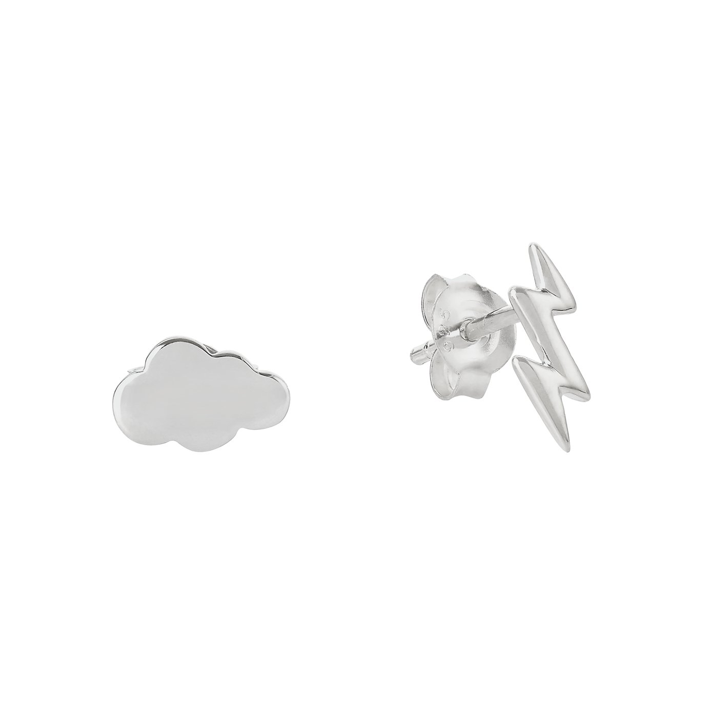 430320999 Revere Sterling Silver Cloud and Thunder Stud Earrings
