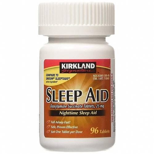 Kirkland Signature Sleep Aid 25mg (Doxylamine Succinate) 192 Tablets