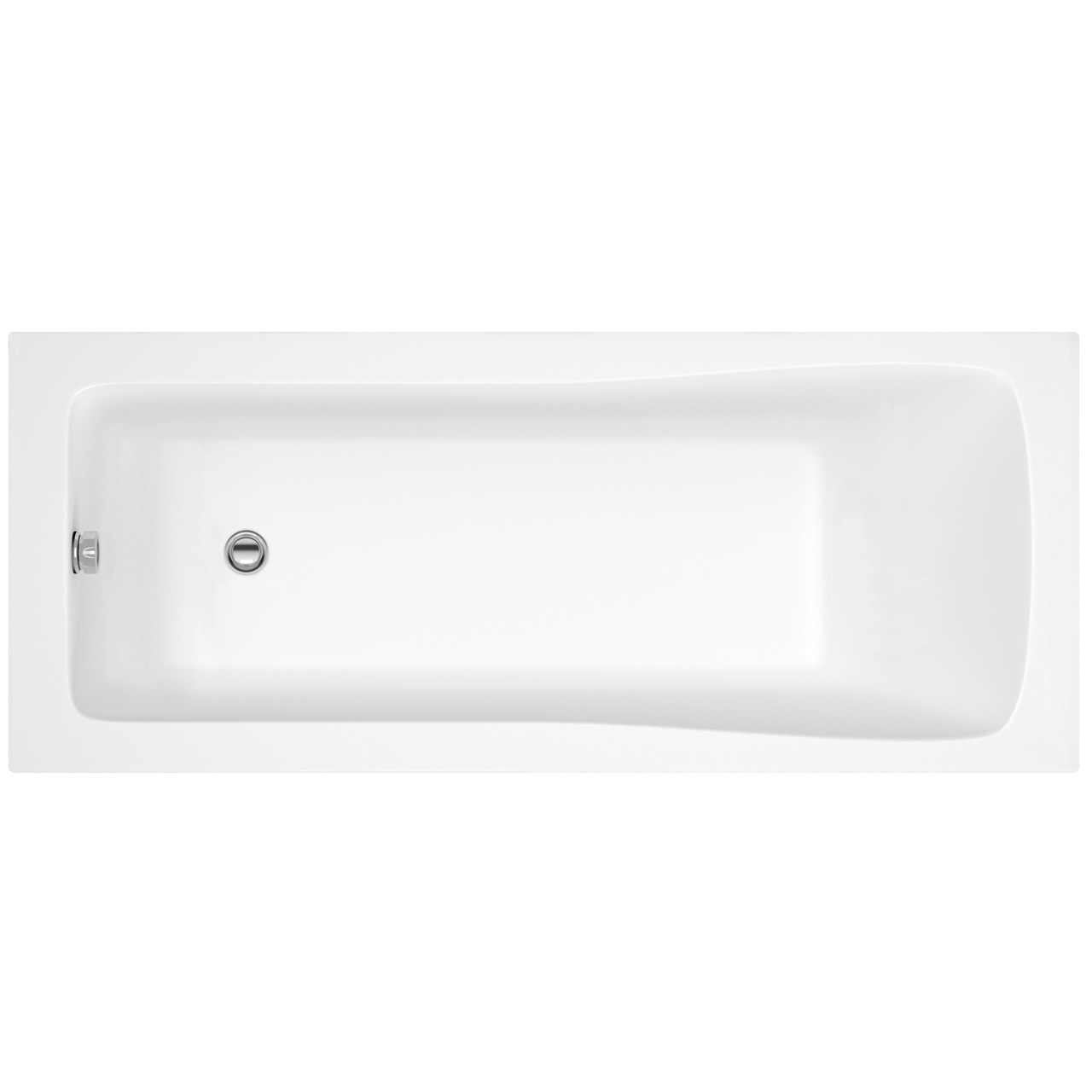 Nuie Linton 1700mm x 700mm Square Single Ended Bath - NBA409