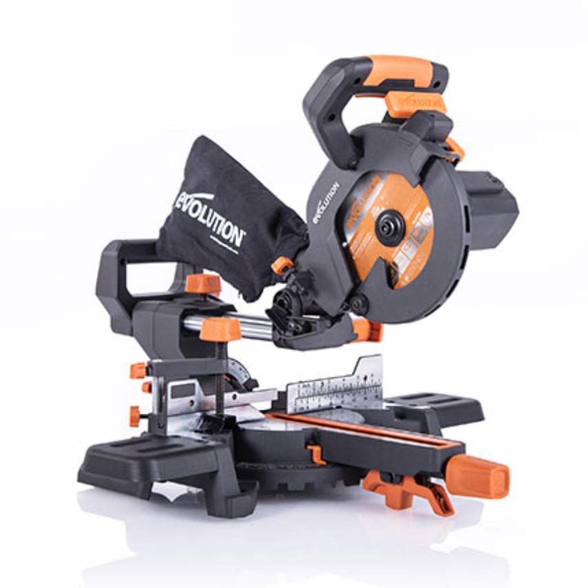 Evolution R185SMS 230v 185mm Multi-Material Sliding Mitre Saw