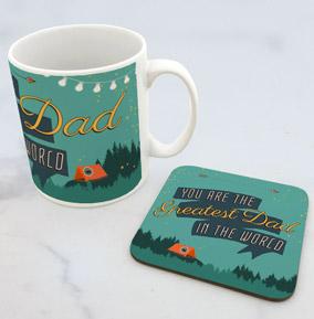 The Greatest Dad In The World Mug & Coaster Set