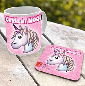 Unicorn Emoji Mug & Coaster Set