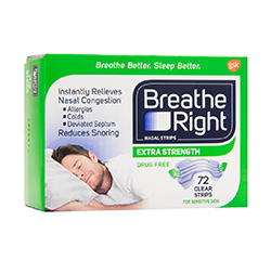 Breathe Right Breathe Right Extra Strength Nasal Strips (Clear) 72 Strips