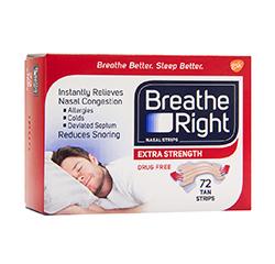 Breathe Right Breathe Right Extra Strength Nasal Strips (Tan) 72 Strips