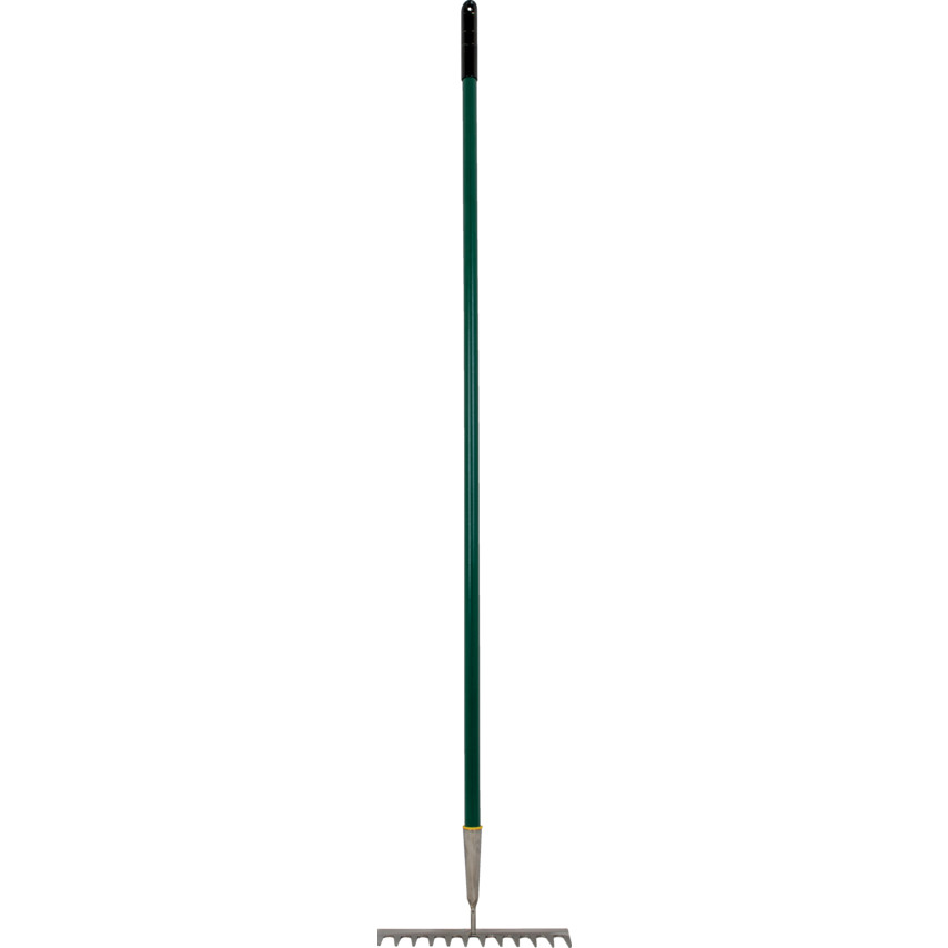 Rutland Garden Rake 12 Tine, Steel Rake and Shaft