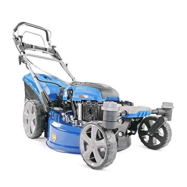 "Hyundai HYM510SPEZ 20 51cm 510mm Self Propelled ZERO-TURN ULTRA LOW CUT Lawn Mower Electric Push Button Start 196cc Petrol Lawn Mower - Includes 600ml Engine Oil"""