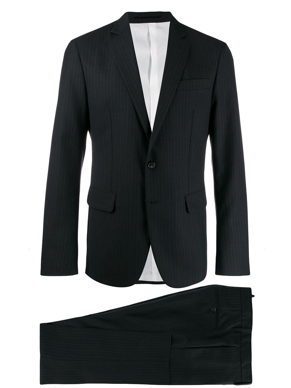 Dsquared2 striped suit - Black
