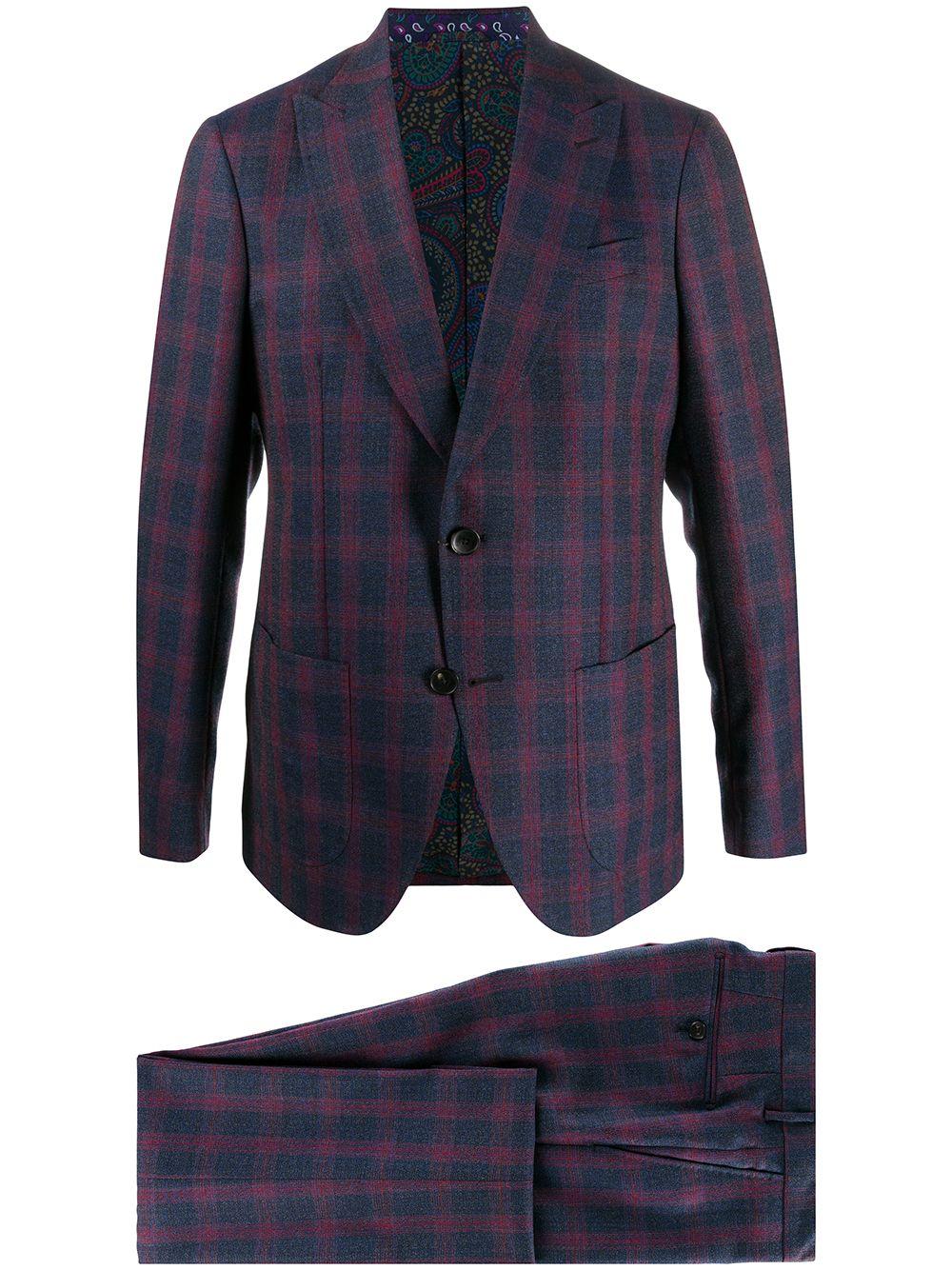 Etro plaid suit - Blue