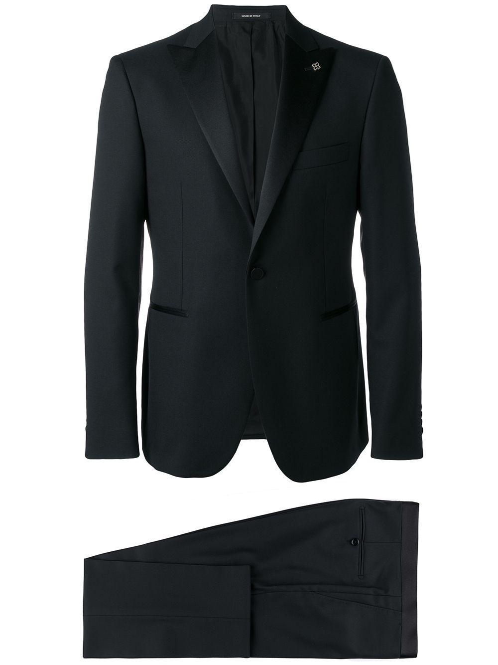 Tagliatore textured suit - Blue