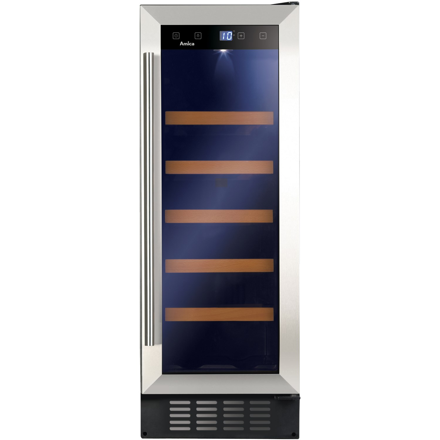 Amica AWC301SS Wine Cooler - Stainless Steel - A Rated