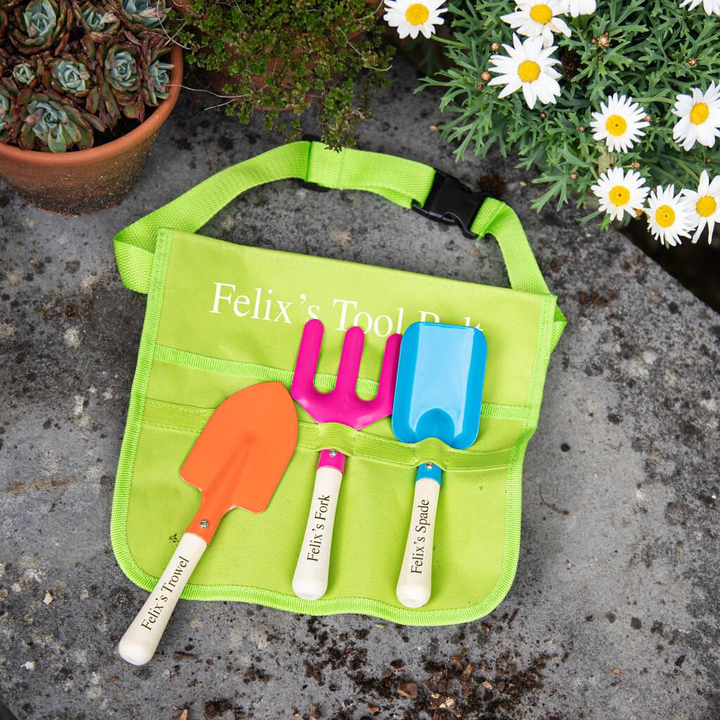 Childs Personalised Garden Tool Belt