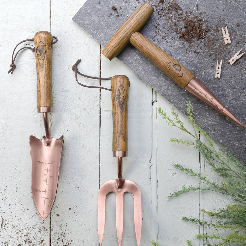 Garden Tool In Wood And Copper