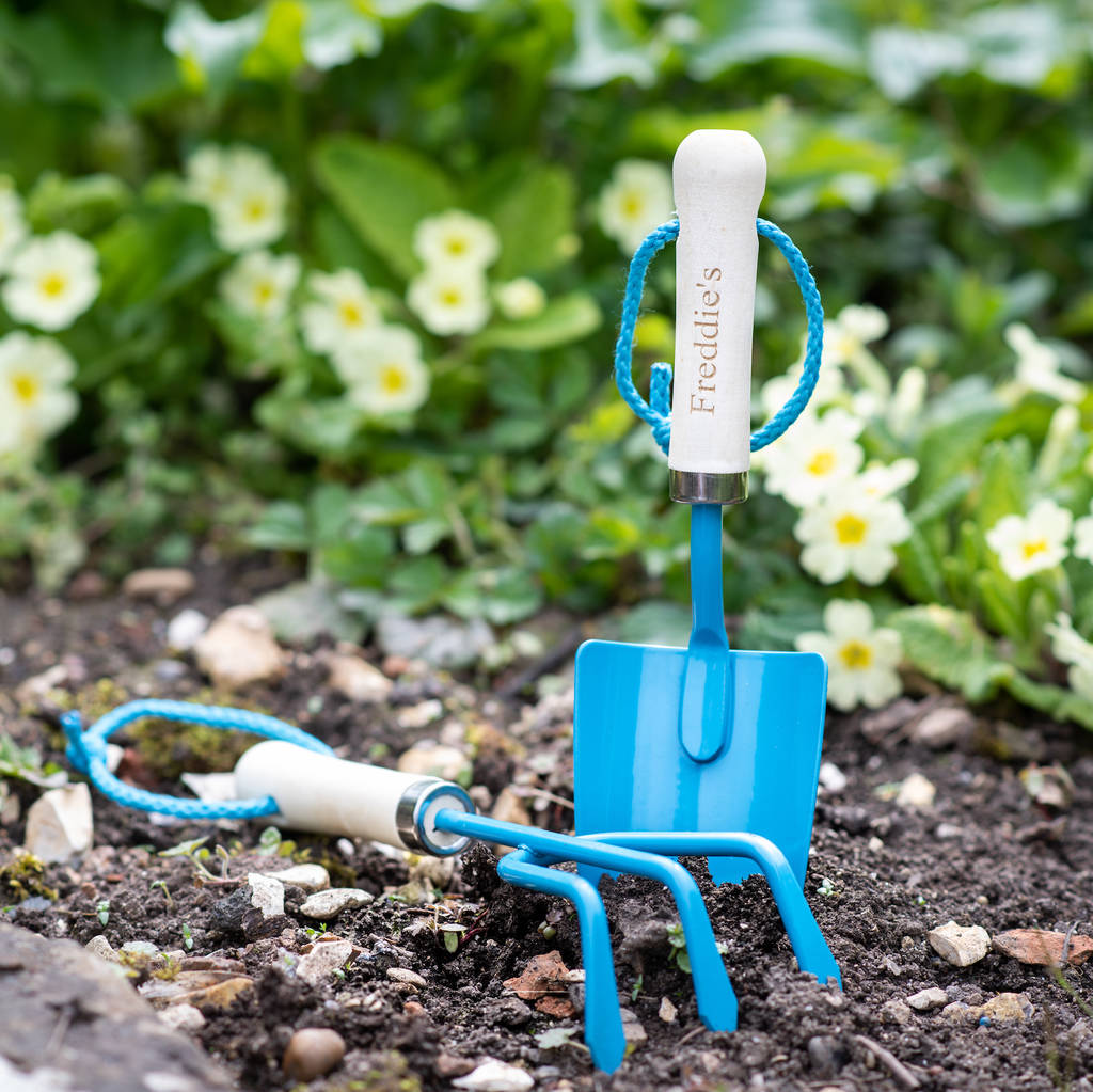 Personalised Child's Bright Garden Tools