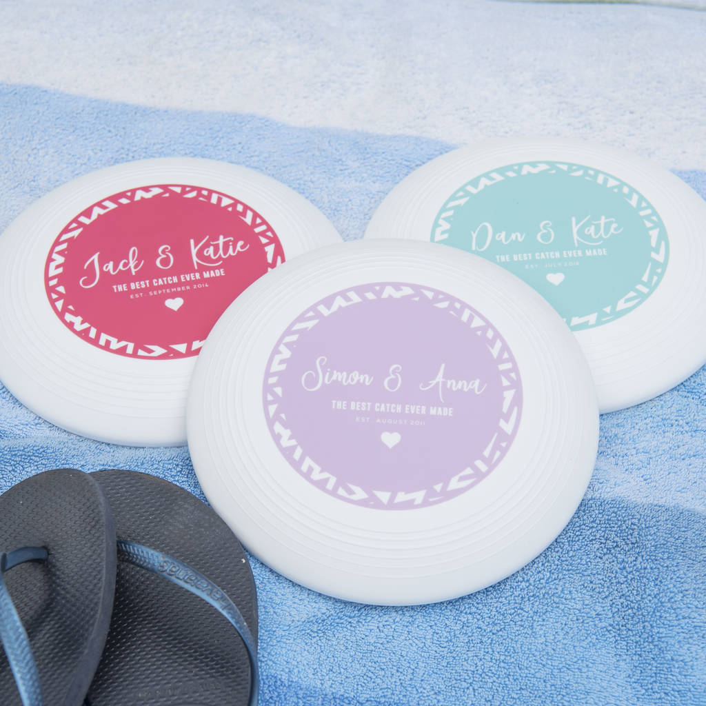 Personalised Couples Frisbee