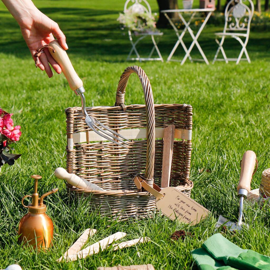Personalised Deluxe Gardening Tool Basket