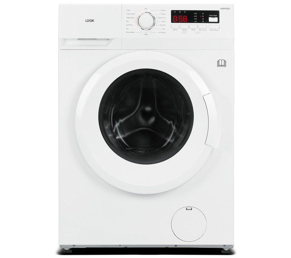 LOGIK L8W5D20 8 kg Washer Dryer - White, White