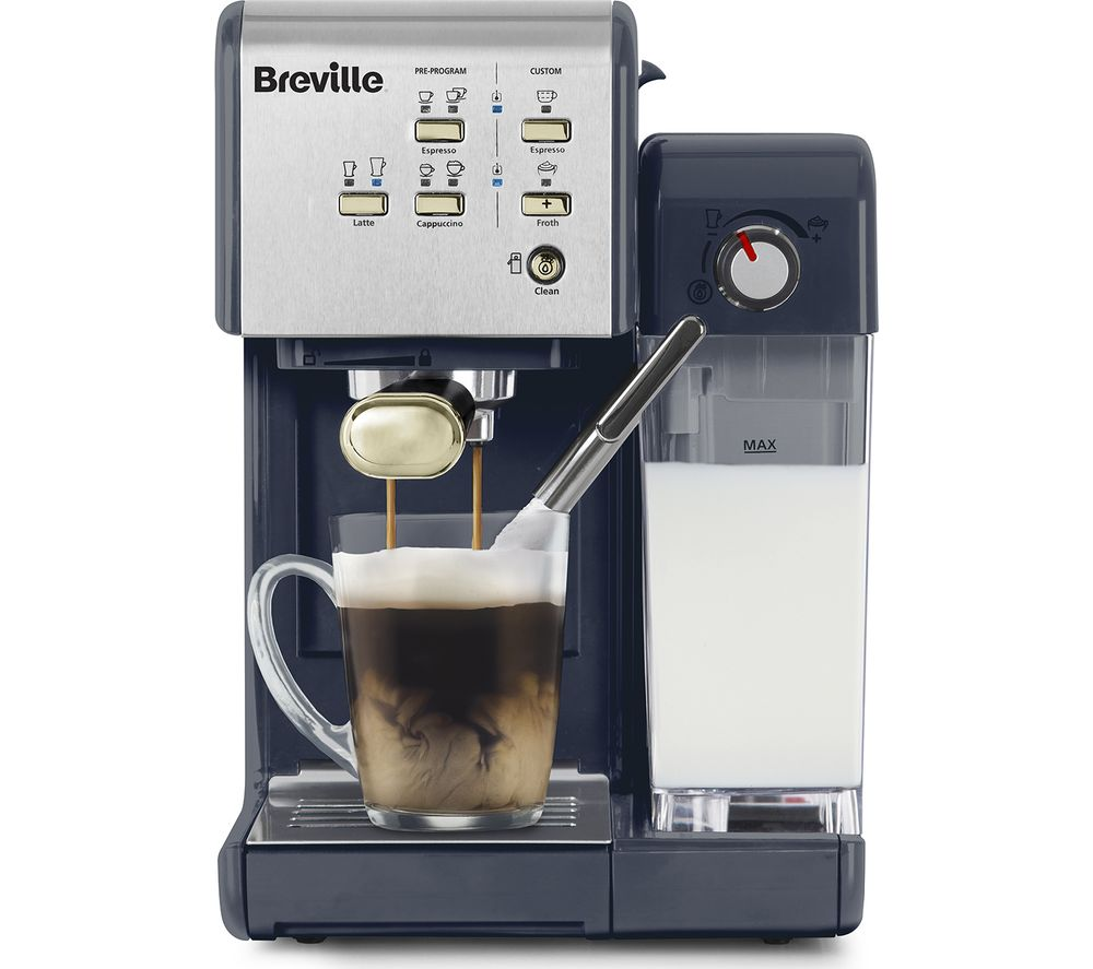 BREVILLE One-Touch CoffeeHouse Coffee Machine - Navy & Gold, Navy
