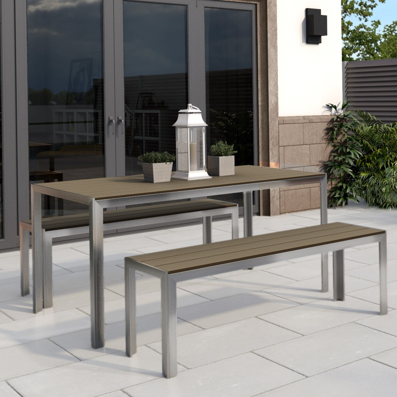 Outdoor Dining Garden Bench Set