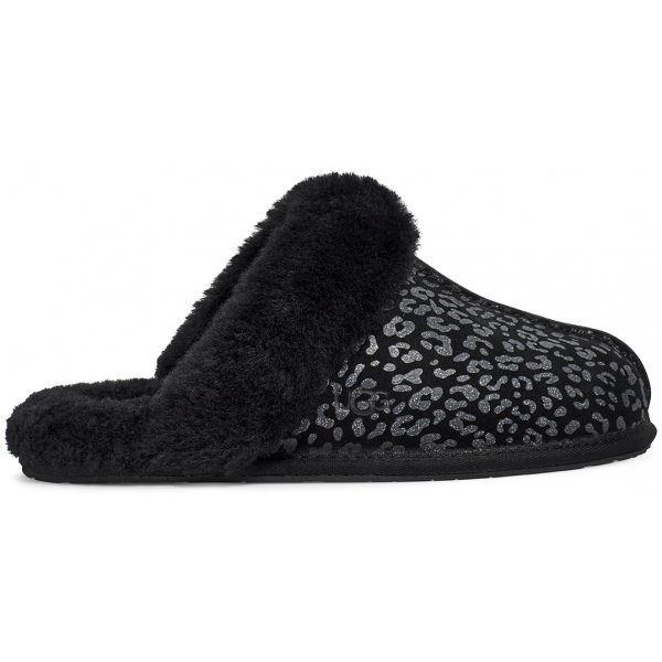 UGG Women's Scuffette Ii Snow Leopard Slippers - Black - UK 6