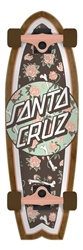 "Santa Cruz Floral Decay Shark 27.7"" Skateboard 