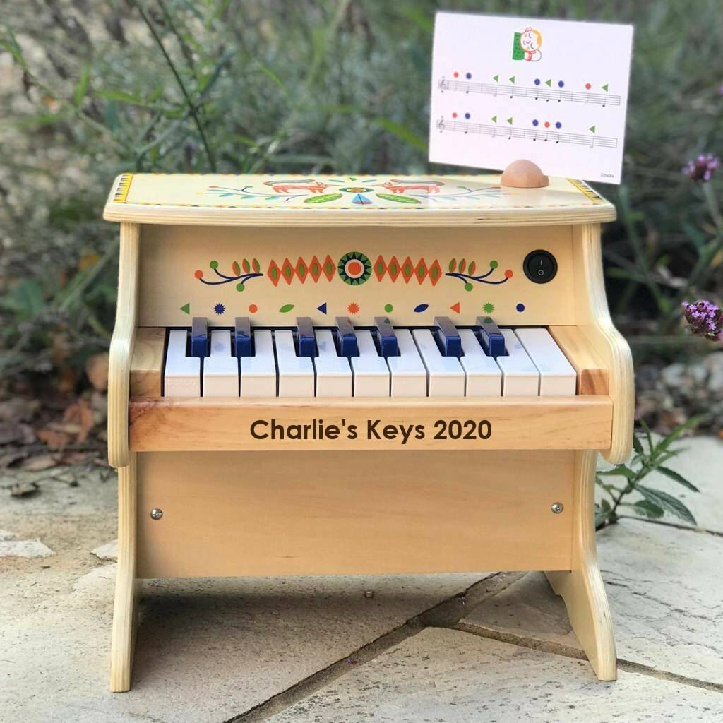 Personalised Wooden Toy Piano