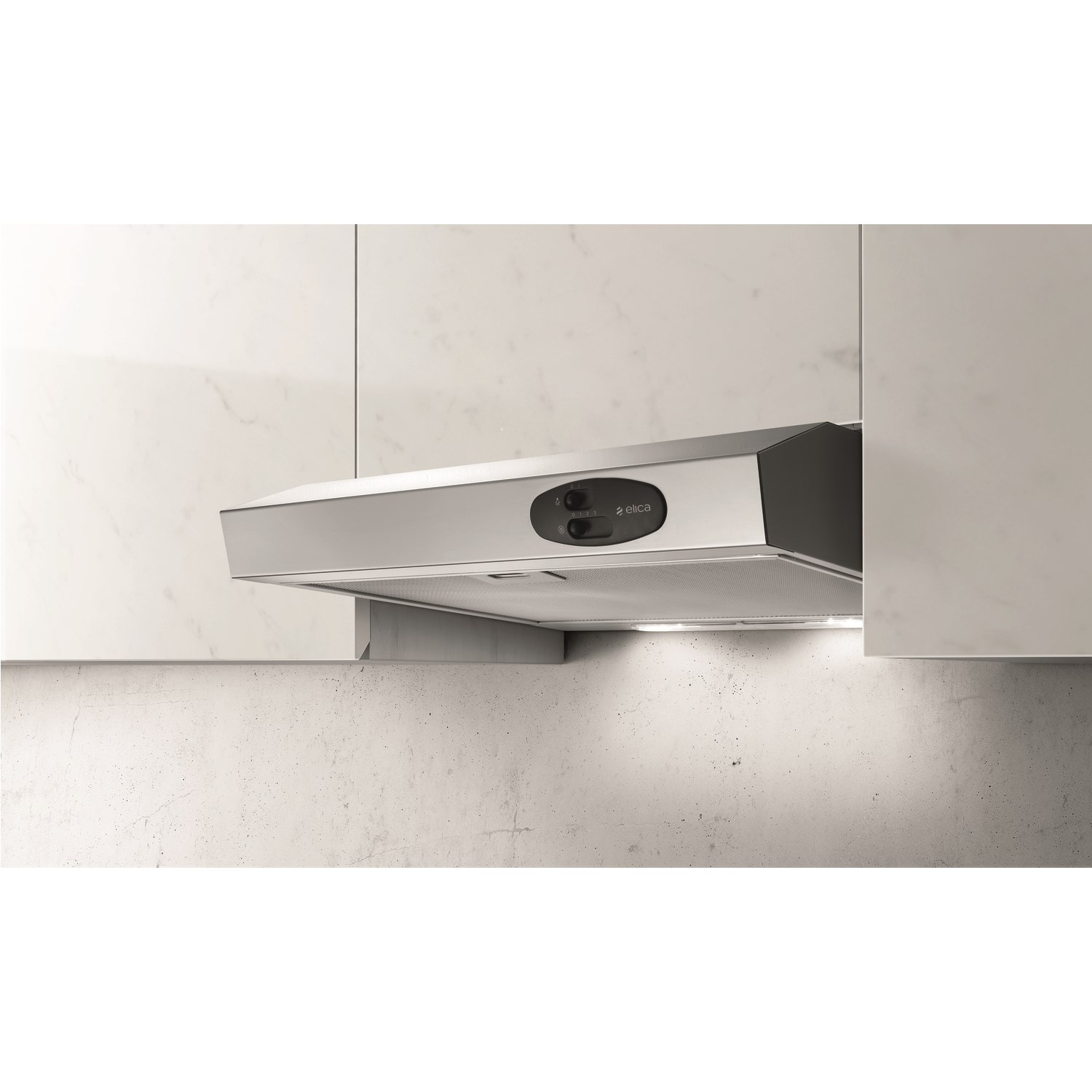 Elica KREA-TW-60-SS Lux Slimline Stainless Steel 60cm Wide Conventional Cooker Hood Stainless steel