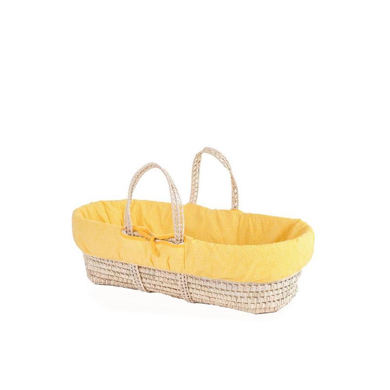 Clair De Lune Colour Pop Palm Moses Basket | Yellow
