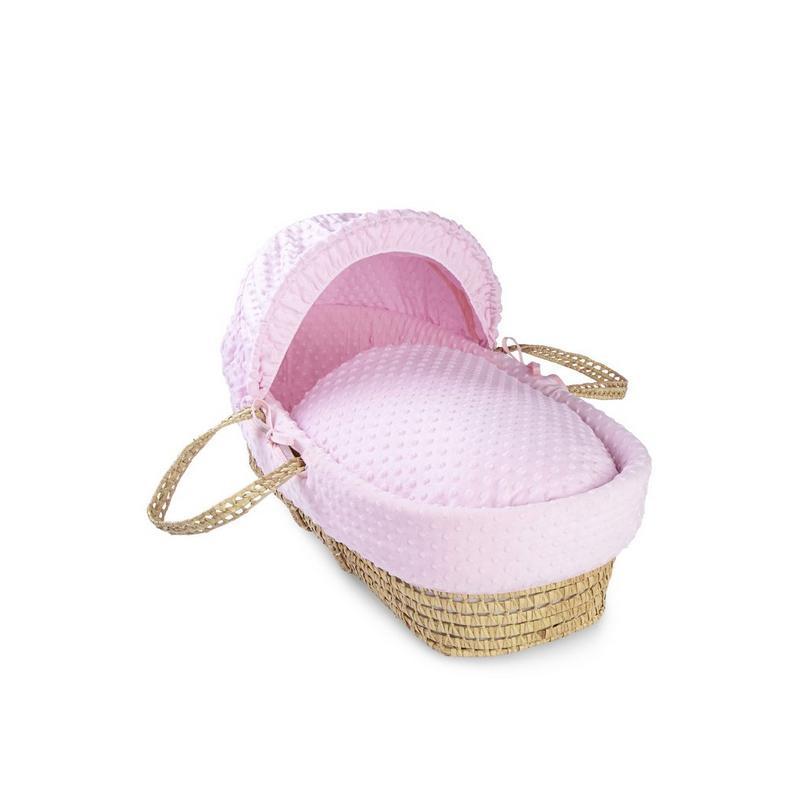 Clair De Lune Dimple Palm Moses Basket | Pink
