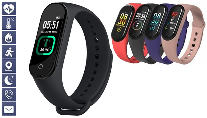 IP67 Waterproof Smart Wristband - 4 Colours
