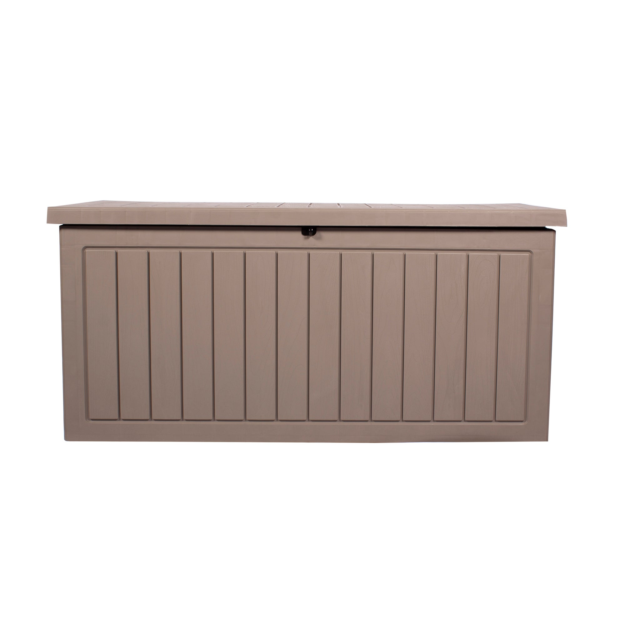 Dunelm Grey Deluxe Waterproof Outdoor Storage Box with Double Gas Lift Grey Medium