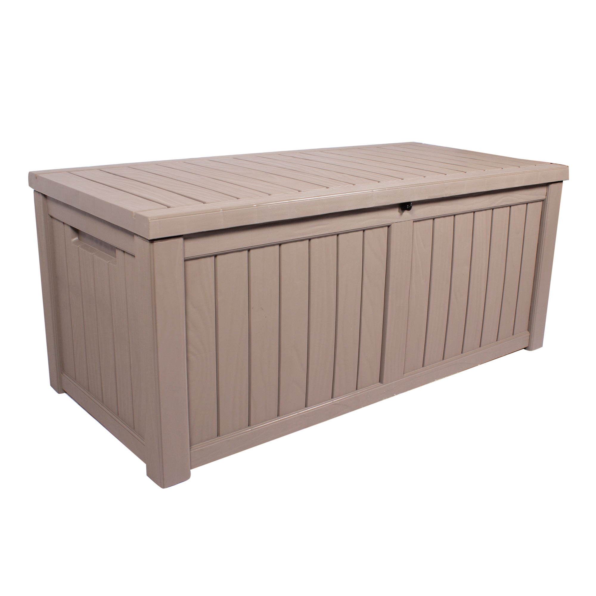 Dunelm Grey Deluxe Waterproof Outdoor Storage Box with Double Gas Lift Grey Large
