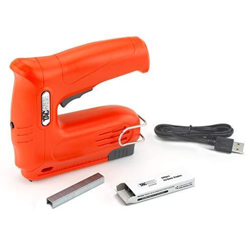 Tacwise  1563 Hobby 53-13EL Cordless 4V Nail Gun with 200pcs Staples Electric Stapler, Orange, Very Good