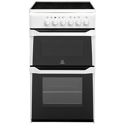 Indesit IT50C(W) S Freestanding Electric Double Cooker, White