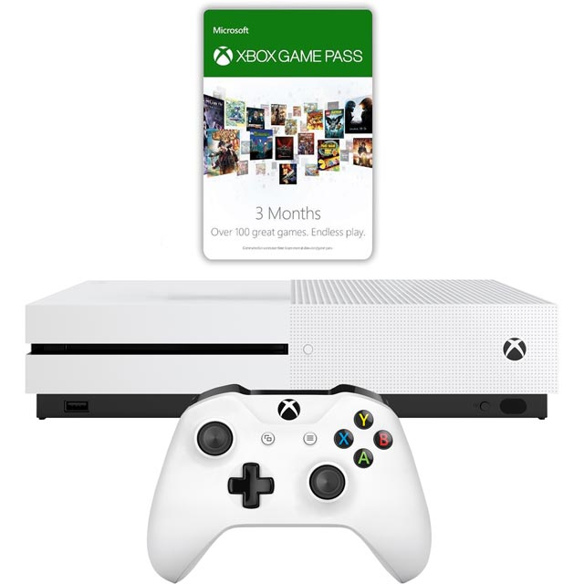 Xbox One S 1TB with 3 Month Game Pass & 3 Month Gold - White